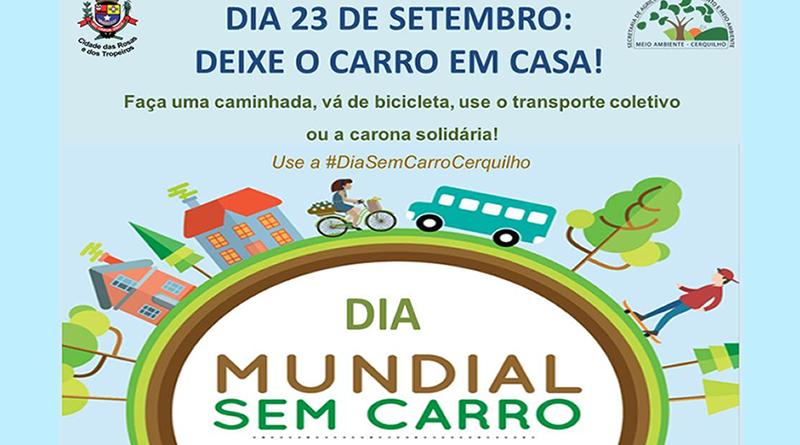 Prefeitura de Cerquilho convida a população para participar do Dia Sem Carro