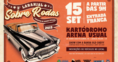 3º carros antigos acontece em Laranjal Paulista