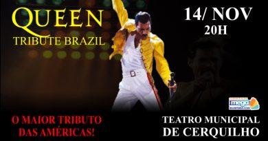 Teatro Municipal de Cerquilho receberá mega  show  Queem Tribute Brasil