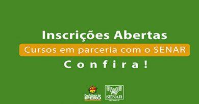 SENAR, SERAT de Iperó disponibiliza cursos gratuitos 2020