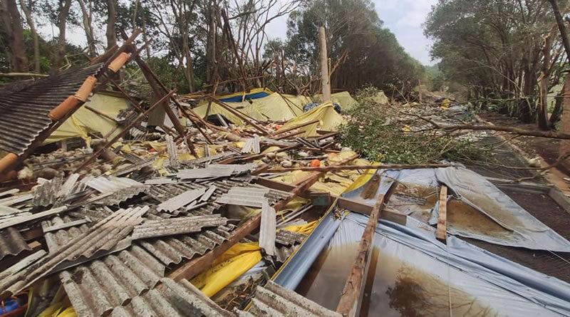Tempestade cai em Tietê nesta madrugada de quarta (18)
