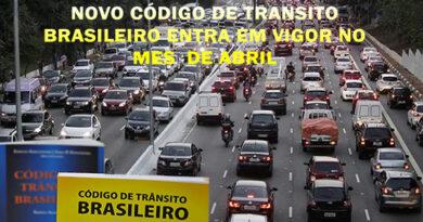 NOVO CÓDIGO DE TRANSITO BRASILEIRO ENTRA EM VIGOR NO MES DE ABRIL