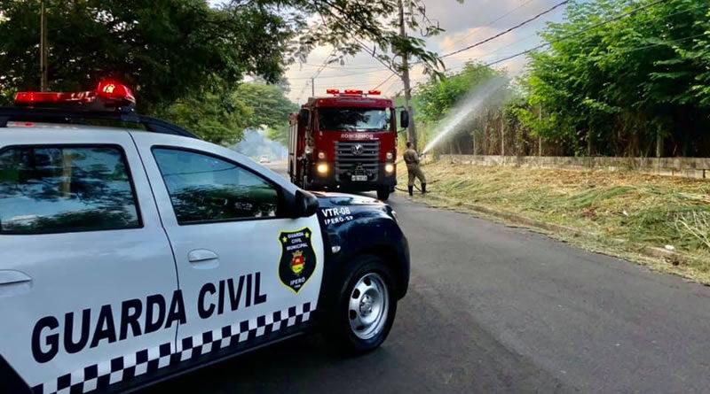 Guarda Civil apreende infrator responsável por provocar incêndio em Iperó